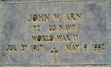 ARN, JOHN W - Mohave County, Arizona | JOHN W ARN - Arizona Gravestone Photos