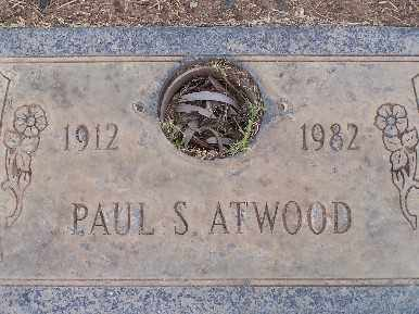 ATWOOD, PAUL SANFORD - Mohave County, Arizona   PAUL SANFORD ATWOOD - Arizona Gravestone Photos
