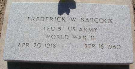 BABCOCK, FREDERICK W. - Mohave County, Arizona | FREDERICK W. BABCOCK - Arizona Gravestone Photos