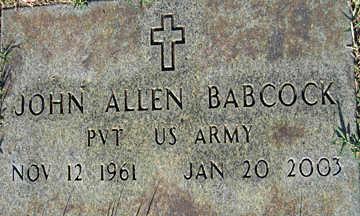 BABCOCK, JOHN ALLEN - Mohave County, Arizona | JOHN ALLEN BABCOCK - Arizona Gravestone Photos