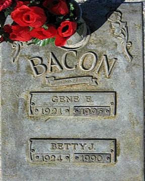 BACON, BETTY J - Mohave County, Arizona | BETTY J BACON - Arizona Gravestone Photos