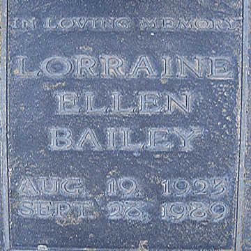 BAILEY, LORRAINE ELLEN - Mohave County, Arizona   LORRAINE ELLEN BAILEY - Arizona Gravestone Photos