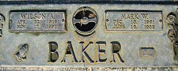 BAKER, WILSON A - Mohave County, Arizona | WILSON A BAKER - Arizona Gravestone Photos
