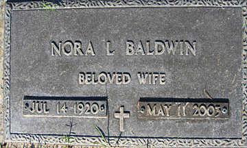 BALDWIN, NORA L - Mohave County, Arizona | NORA L BALDWIN - Arizona Gravestone Photos