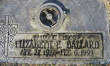 BALLARD, ELIZABETH E - Mohave County, Arizona   ELIZABETH E BALLARD - Arizona Gravestone Photos