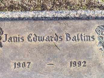 BALTINS, JANIS EDWARDS - Mohave County, Arizona | JANIS EDWARDS BALTINS - Arizona Gravestone Photos