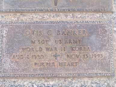 BANKER, OTIS C - Mohave County, Arizona   OTIS C BANKER - Arizona Gravestone Photos