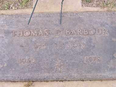 BARBOUR, THOMAS E - Mohave County, Arizona | THOMAS E BARBOUR - Arizona Gravestone Photos
