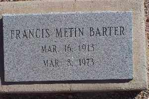 BARTER, FRANCIS METIN - Mohave County, Arizona | FRANCIS METIN BARTER - Arizona Gravestone Photos