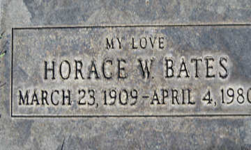 BATES, HORACE - Mohave County, Arizona   HORACE BATES - Arizona Gravestone Photos