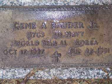 BAUDER, GENE A - Mohave County, Arizona | GENE A BAUDER - Arizona Gravestone Photos