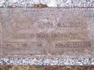 BAUDER, SALLY ANN - Mohave County, Arizona | SALLY ANN BAUDER - Arizona Gravestone Photos