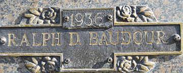 BAUDOUR, RALPH D - Mohave County, Arizona   RALPH D BAUDOUR - Arizona Gravestone Photos