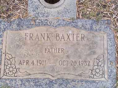 BAXTER, FRANK - Mohave County, Arizona   FRANK BAXTER - Arizona Gravestone Photos