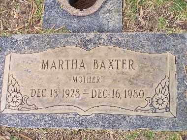 BAXTER, MARTHA ETHEL - Mohave County, Arizona | MARTHA ETHEL BAXTER - Arizona Gravestone Photos