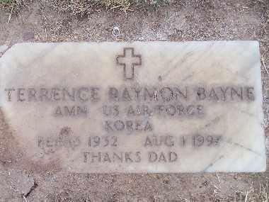 BAYNE, TERRENCE RAYMON - Mohave County, Arizona | TERRENCE RAYMON BAYNE - Arizona Gravestone Photos