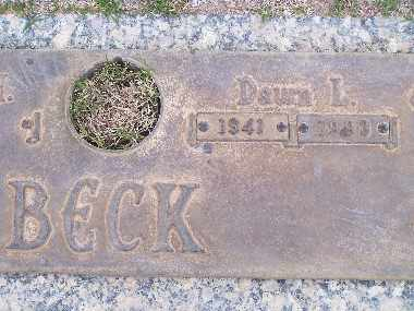 BECK, DAWN LYBECK - Mohave County, Arizona   DAWN LYBECK BECK - Arizona Gravestone Photos