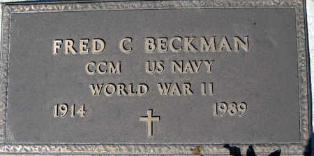 BECKMAN, FRED C - Mohave County, Arizona | FRED C BECKMAN - Arizona Gravestone Photos