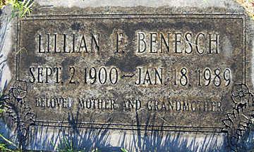 BENESCH, LILLIAN F - Mohave County, Arizona | LILLIAN F BENESCH - Arizona Gravestone Photos