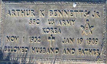 BENNETTS, ARTHUR K JR. - Mohave County, Arizona | ARTHUR K JR. BENNETTS - Arizona Gravestone Photos
