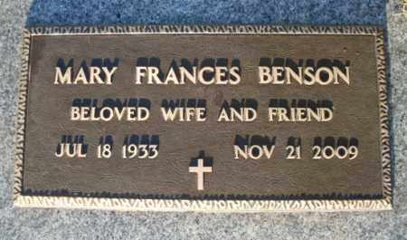 WOLFE BENSON, MARY FRANCES - Mohave County, Arizona | MARY FRANCES WOLFE BENSON - Arizona Gravestone Photos