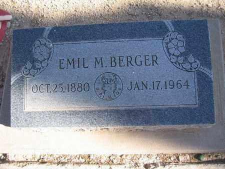 BERGER, EMIL M - Mohave County, Arizona | EMIL M BERGER - Arizona Gravestone Photos