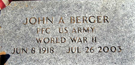 BERGER, JOHN A - Mohave County, Arizona | JOHN A BERGER - Arizona Gravestone Photos