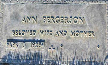 BERGERSON, ANN - Mohave County, Arizona | ANN BERGERSON - Arizona Gravestone Photos