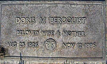 BERGQUIST, DORIS M - Mohave County, Arizona | DORIS M BERGQUIST - Arizona Gravestone Photos