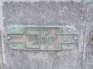 BERMAN, JACOB - Mohave County, Arizona | JACOB BERMAN - Arizona Gravestone Photos