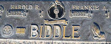 BIDDLE, HAROLD R - Mohave County, Arizona | HAROLD R BIDDLE - Arizona Gravestone Photos