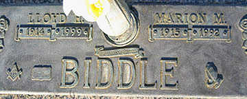 BIDDLE, LLOYD H - Mohave County, Arizona | LLOYD H BIDDLE - Arizona Gravestone Photos