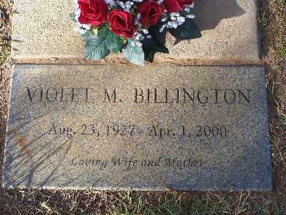 BILLINGTON, VIOLET M - Mohave County, Arizona   VIOLET M BILLINGTON - Arizona Gravestone Photos