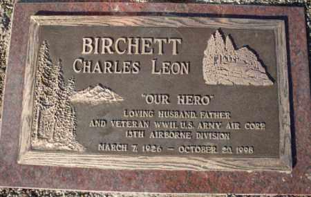 BIRCHETT, CHARLES LEON - Mohave County, Arizona   CHARLES LEON BIRCHETT - Arizona Gravestone Photos