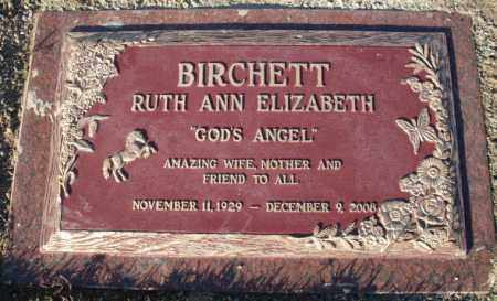 DITTMAR BIRCHETT, RUTH ANN ELIZABETH - Mohave County, Arizona | RUTH ANN ELIZABETH DITTMAR BIRCHETT - Arizona Gravestone Photos