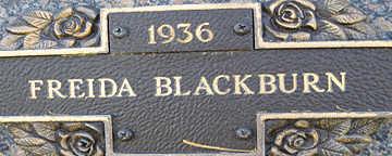 BLACKBURN, FREIDA - Mohave County, Arizona | FREIDA BLACKBURN - Arizona Gravestone Photos