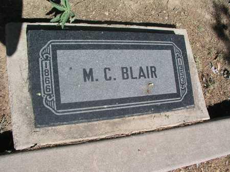 BLAIR, M.C. - Mohave County, Arizona   M.C. BLAIR - Arizona Gravestone Photos