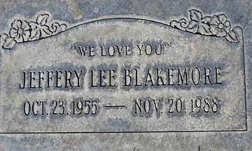BLAKEMORE, JEFFERY LEE - Mohave County, Arizona | JEFFERY LEE BLAKEMORE - Arizona Gravestone Photos
