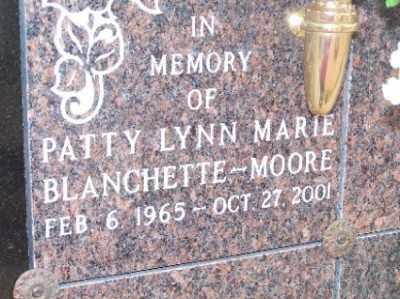 BLANCHETTE-MOORE, PATTY LYNN MARIE - Mohave County, Arizona | PATTY LYNN MARIE BLANCHETTE-MOORE - Arizona Gravestone Photos