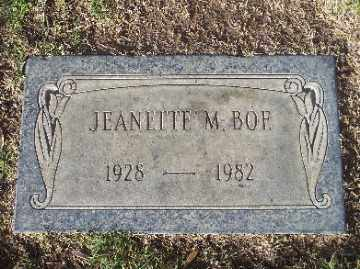 BOE, JEANETTE MARY - Mohave County, Arizona | JEANETTE MARY BOE - Arizona Gravestone Photos