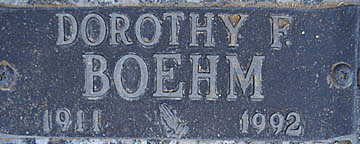 BOEHM, DOROTHY F - Mohave County, Arizona | DOROTHY F BOEHM - Arizona Gravestone Photos
