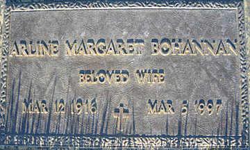 BOHANNAN, ARLINE MARGARET - Mohave County, Arizona | ARLINE MARGARET BOHANNAN - Arizona Gravestone Photos