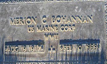 BOHANNAN, MERION C - Mohave County, Arizona   MERION C BOHANNAN - Arizona Gravestone Photos