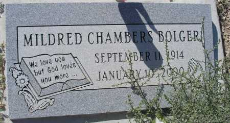 BOLGER, MILDRED CHAMBERS - Mohave County, Arizona | MILDRED CHAMBERS BOLGER - Arizona Gravestone Photos