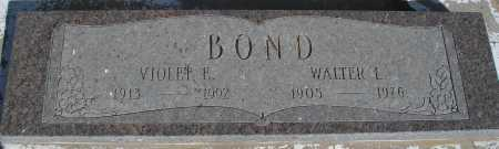 BOND, WALTER L. - Mohave County, Arizona | WALTER L. BOND - Arizona Gravestone Photos