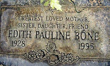BONE, EDITH PAULINE - Mohave County, Arizona | EDITH PAULINE BONE - Arizona Gravestone Photos