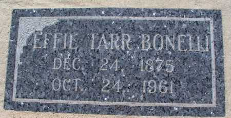 TARR BONELLI, EFFIE - Mohave County, Arizona | EFFIE TARR BONELLI - Arizona Gravestone Photos