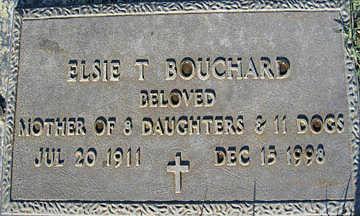 BOUCHARD, ELSIE T - Mohave County, Arizona | ELSIE T BOUCHARD - Arizona Gravestone Photos