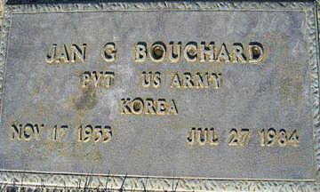 BOUCHARD, JAN G - Mohave County, Arizona   JAN G BOUCHARD - Arizona Gravestone Photos