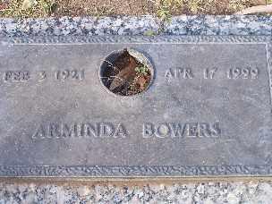 BOWERS, ARMINDA - Mohave County, Arizona | ARMINDA BOWERS - Arizona Gravestone Photos